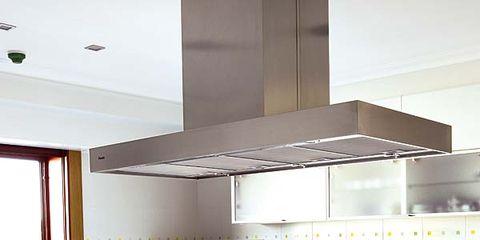 Room, Major appliance, Interior design, Kitchen appliance, Kitchen, Ceiling, Home appliance, Kitchen stove, Grey, Kitchen appliance accessory,