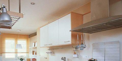 Room, Property, Interior design, White, Floor, Light fixture, Interior design, Ceiling, Home, Kitchen,