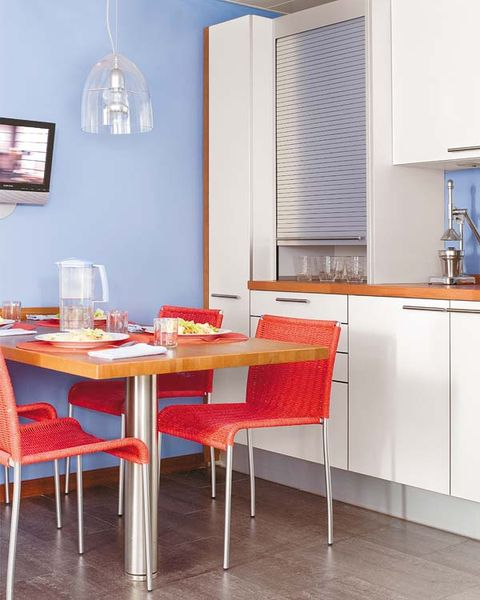Room, Floor, Interior design, Table, Furniture, Flooring, Glass, Window covering, Chair, Interior design,