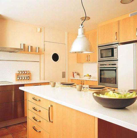 Room, Wood, Interior design, Drawer, Light fixture, Floor, Kitchen, Cabinetry, Ceiling, Interior design,
