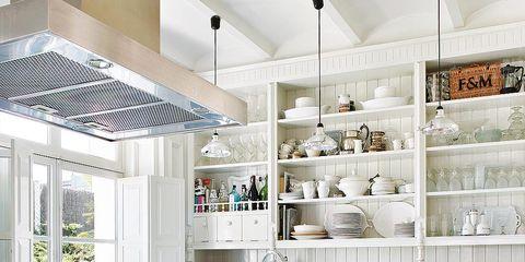 Interior design, White, Room, Ceiling, Interior design, Light fixture, Countertop, Grey, Home, Kitchen,