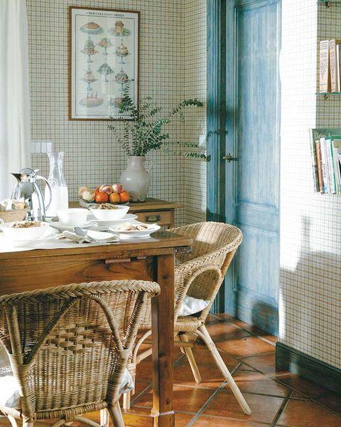 Room, Interior design, Floor, Table, Furniture, Flooring, Dining room, Interior design, Shelf, Home,