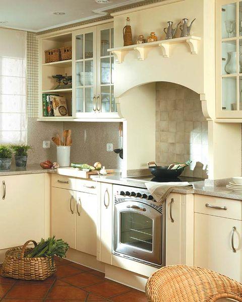 Room, Green, Interior design, Major appliance, Floor, Home, Flooring, Kitchen, Stove, Kitchen appliance,