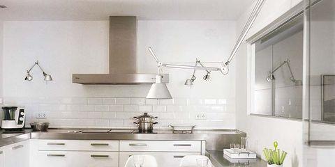 Room, Interior design, Product, Green, Floor, White, Kitchen, Ceiling, Furniture, Line,