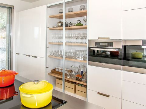Interior design, Room, Shelving, Shelf, Cupboard, Window blind, Window covering, Cabinetry, Plywood, Collection,