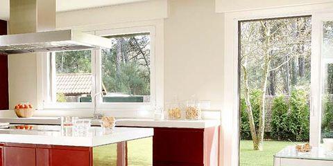 Floor, Room, Interior design, Flooring, Property, Countertop, Plumbing fixture, Table, Glass, Home,