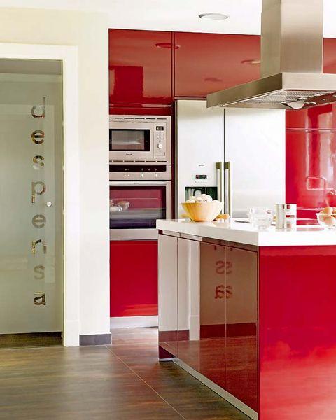 Floor, Room, Interior design, Cupboard, Countertop, Flooring, Wall, Major appliance, Kitchen appliance, Kitchen,