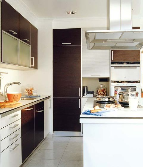 Room, Interior design, Floor, Kitchen, Kitchen appliance, Countertop, Major appliance, Ceiling, Flooring, Cupboard,