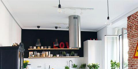 Una preciosa cocina integrada en el salón comedor