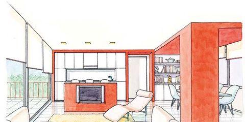 Line, Parallel, Illustration, Drawing, Plan, Diagram,
