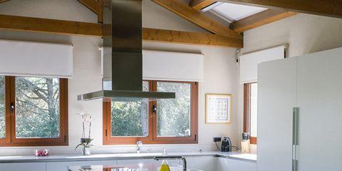 Green, Room, Plumbing fixture, Interior design, Floor, Property, Tap, White, Ceiling, Glass,