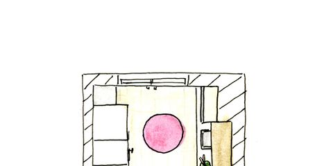 Pink, Magenta, Diagram, Drawing, Illustration, Plan, Sketch,