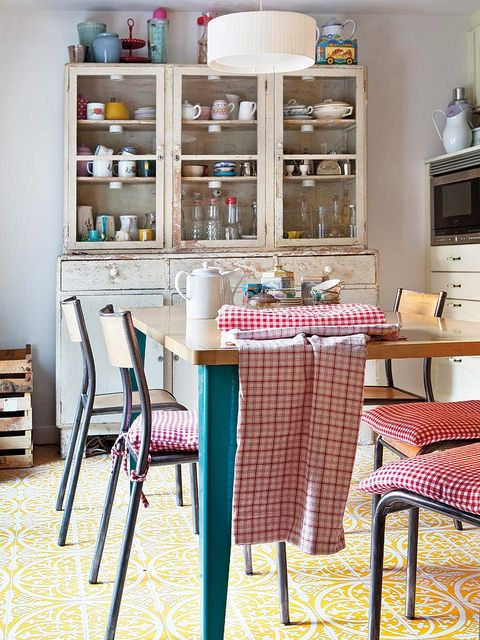 Room, Furniture, Shelving, Interior design, Table, Shelf, Teal, Tablecloth, Turquoise, Home accessories,