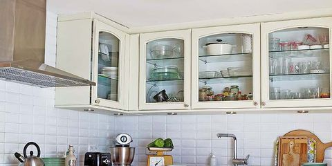 Room, Interior design, Kitchen, House, Cabinetry, Interior design, Plumbing fixture, Linens, Home, Kitchen sink,
