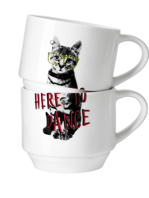 Cup, Serveware, Drinkware, Dishware, Tableware, Ceramic, Porcelain, Mug, Pottery, Small to medium-sized cats,
