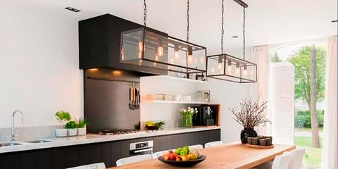 Furniture, Room, Kitchen, Countertop, Interior design, Property, Table, Cabinetry, Dining room, Building,