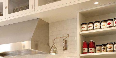 Room, White, Drawer, Interior design, Cabinetry, Kitchen, Shelving, Kitchen appliance, Grey, Shelf,