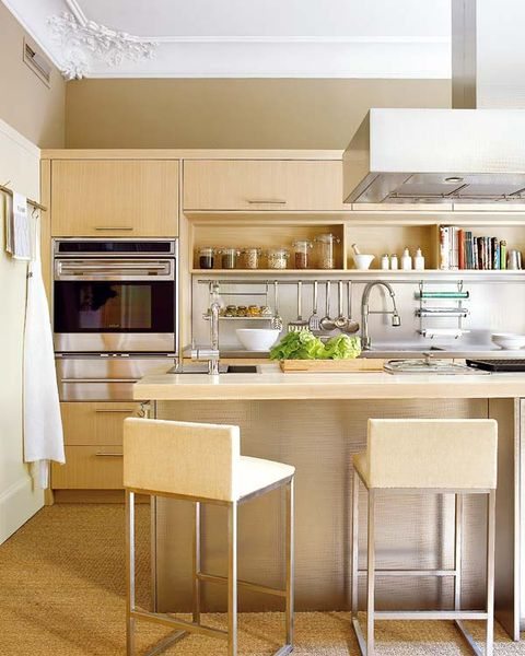 Room, Interior design, Floor, Kitchen, Kitchen appliance, Ceiling, Home appliance, Interior design, Glass, Major appliance,