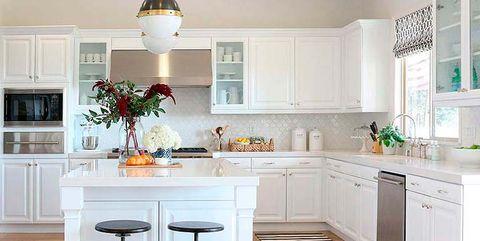 Cocinas blancas: antes y después
