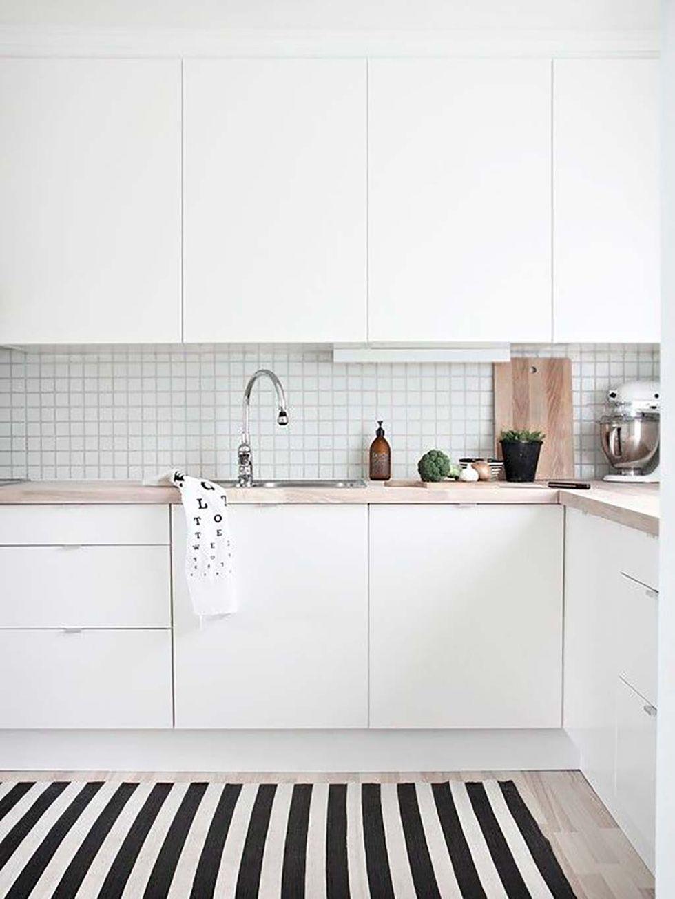 Electrodomésticos blancos para estilo nórdico