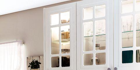 White, Room, Furniture, Window, Door, Building, Interior design, Hutch, House, Home,