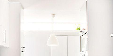 Room, Floor, Interior design, White, Flooring, Cabinetry, Kitchen, Drawer, Countertop, Home,