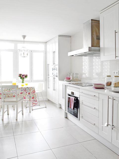Room, Interior design, Floor, White, Home, Flooring, Interior design, Cupboard, Cabinetry, House,