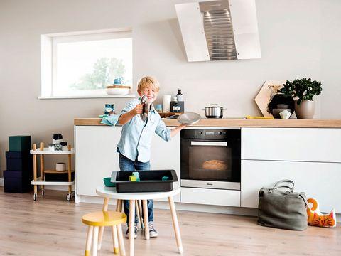 Room, Countertop, Flowerpot, Cabinetry, Kitchen, Stool, Home appliance, Interior design, Home, Kitchen appliance,