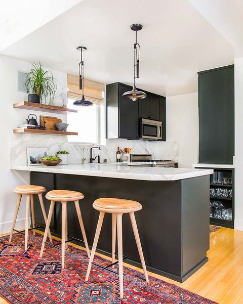 furniture, room, countertop, kitchen, interior design, property, bar stool, table, cabinetry, stool,