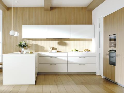 Room, Furniture, Floor, Property, Interior design, Cabinetry, Kitchen, Tile, Ceiling, Countertop,