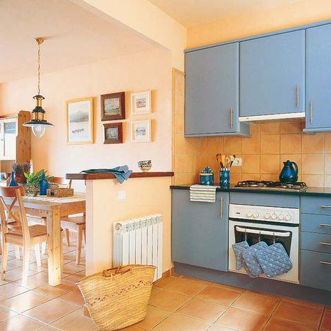 Room, Interior design, Floor, Flooring, Interior design, Countertop, Kitchen, Home, Cupboard, Ceiling,