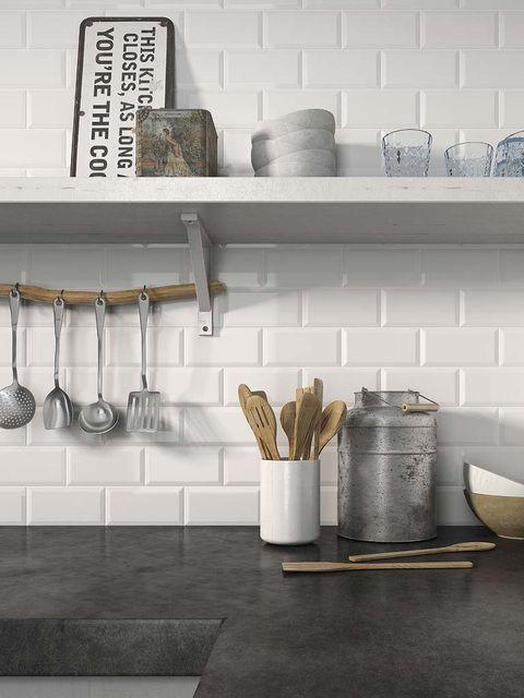 Wall, Shelf, Shelving, Grey, Dishware, Still life photography, Home accessories, Kitchen utensil, Serveware, Ceramic,