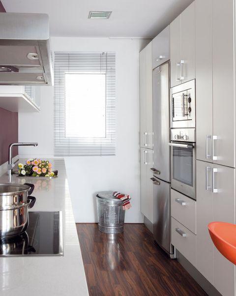 cocina pequeña se planta rectangular