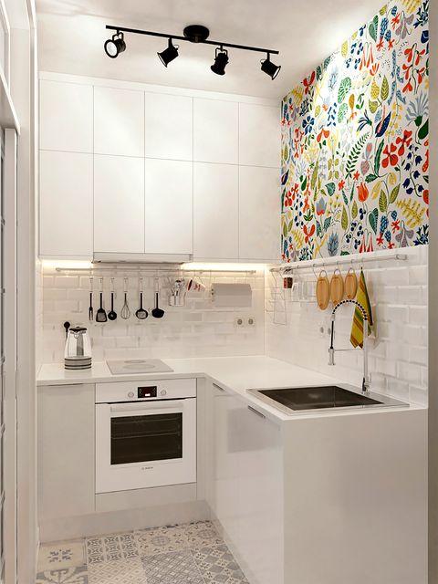 Cocinas Pequenas Con Muebles Blancos.Ideas Para Cocinas Pequenas Como Aprovechar Una Cocina Pequena