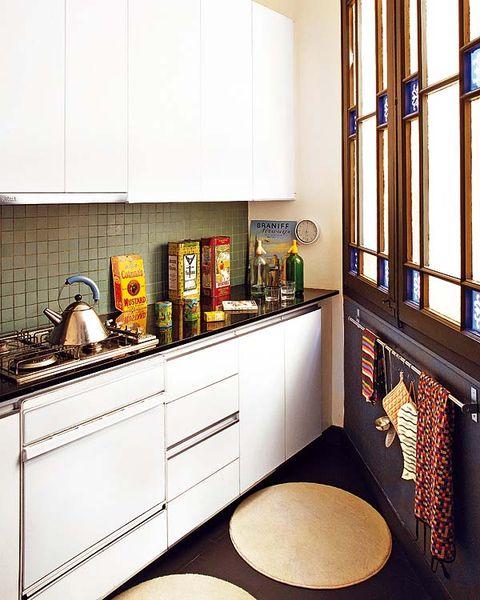 Room, Interior design, Kitchen, Floor, Interior design, Cabinetry, House, Home accessories, Cupboard, Light fixture,