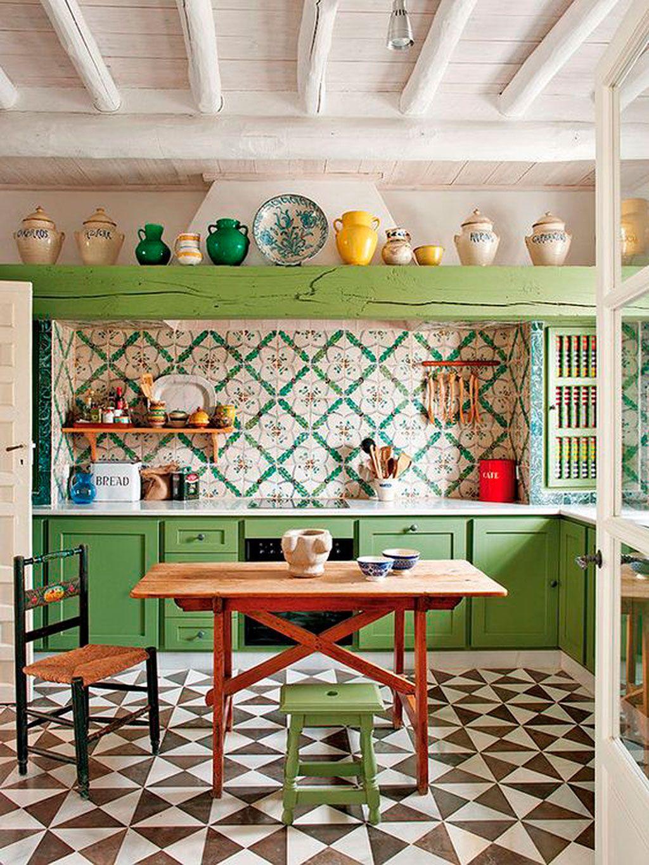 17 Cocinas Rusticas Con Encanto - Cocinas-rusticas-de-campo