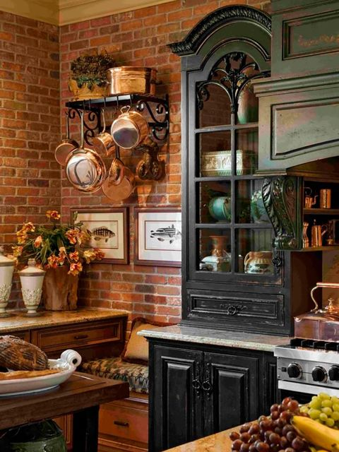 cocinas de ladrillo rustico Cocinas Rsticas Francesas Una Delicia Para El Otoo