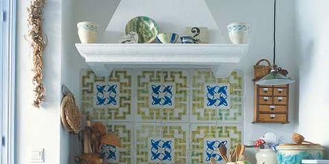 Blue, Azure, Major appliance, Kitchen appliance, Gas, Kitchen appliance accessory, Kitchen, Porcelain, Home appliance, Cabinetry,