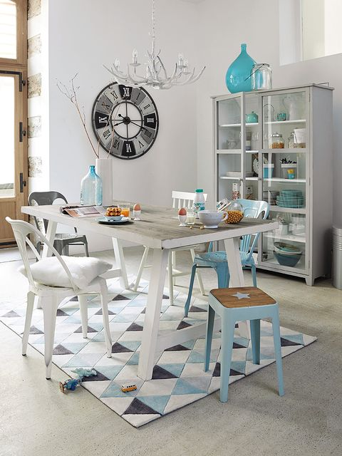 Room, Interior design, Furniture, Table, Floor, Teal, Wall, Turquoise, Aqua, Grey,