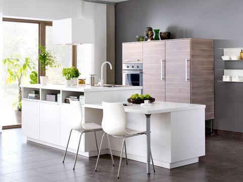 Floor, Flooring, Room, Interior design, Wood, White, Countertop, Wall, Home, Interior design,