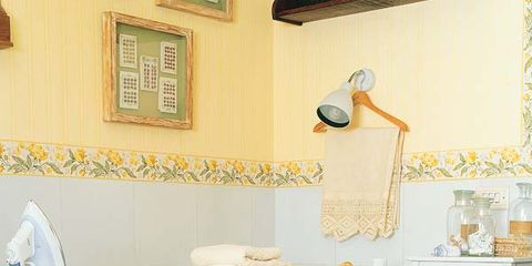 Room, Basket, Picture frame, Home accessories, Interior design, Storage basket, Wicker, Shelving, Plywood, Paint,