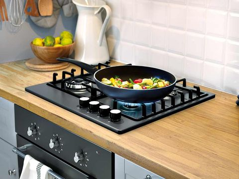 Gas stove, Food, Dishware, Bowl, Kitchen stove, Kitchen, Cooktop, Cookware and bakeware, Tableware, Stove,