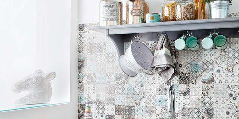 Room, Plumbing fixture, Interior design, Bathroom sink, Tap, Sink, Interior design, Cabinetry, Home, Grey,