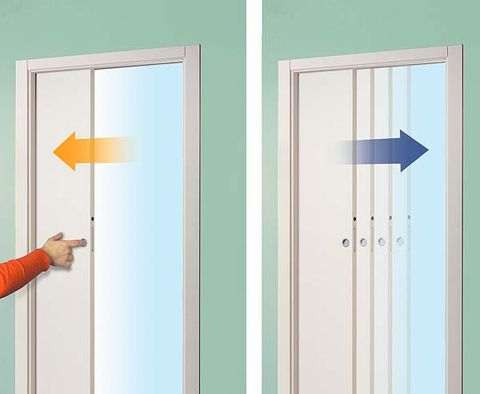 Home door, Fixture, Azure, Colorfulness, Teal, Rectangle, Parallel, Paint, Turquoise, Door,