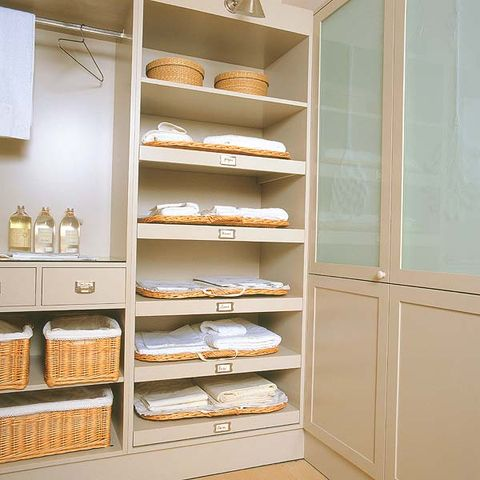 Shelf, Shelving, Collection, Display case, Tan, Dishware, Plywood, Pottery, Ceramic,