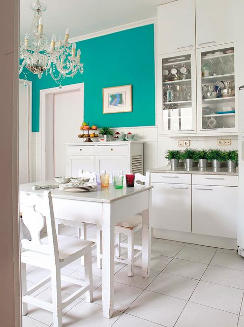 Room, Interior design, White, Teal, Wall, Turquoise, Interior design, Aqua, Home, Grey,