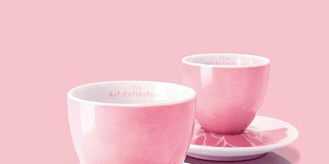 Cup, Serveware, Drinkware, Dishware, Coffee cup, Teacup, Tableware, Saucer, Pink, Magenta,
