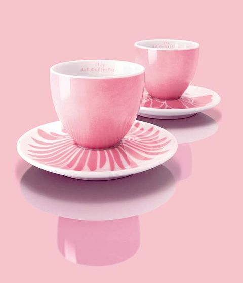 Cup, Serveware, Drinkware, Dishware, Coffee cup, Teacup, Tableware, Saucer, Pink, Magenta,