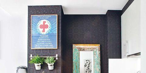 Room, Interior design, Countertop, Plumbing fixture, Kitchen, Tap, Interior design, Sink, Grey, Home accessories,