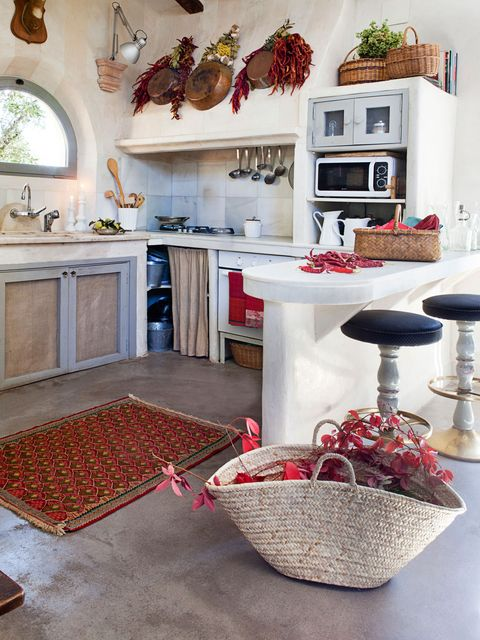 Room, Interior design, Red, Kitchen, Countertop, Floor, Furniture, House, Home, Building,